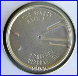 100 PLEASE DON'T LITTER DISPOSE OF 211 Silver LIDS for straight-steel Beer CANS