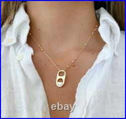 14k Gold Filled Wholesale Lot 12 Pcs Soda Pull Tab Beaded Chain Necklace Can Tap