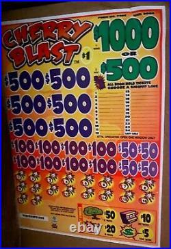 $$$$ 2,000 PROFIT Cherry blast cash board pull tabs