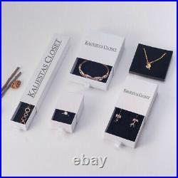 200x PULL TAB DRAWER BIRTHSTONE PENDANT CLUSTERS BOX WHITE MEDAL JEWELLERY BOXES