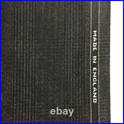 3.5 Metres Dark Grey Check Heritage Twist Pure Wool Winter Suit Fabric. (395g)