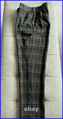 $345 NWT Vince Classic Plaid Pull On Black Pants sz S V676521890