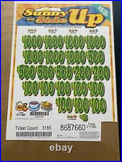 $5 Game Sunny Side Up 3 Window Pull Tab $3640 Profit Free Shipping USA 48