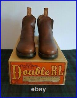 $650 Ralph Lauren Double Rrl Congress Brown Leather Chelsea Mens Boot Sz11. D