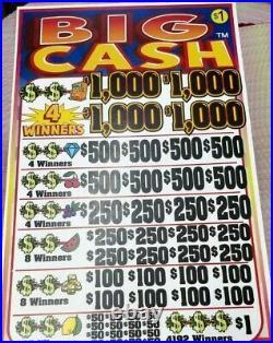 $7232 Profit Big Cash, 5 Window Pull Tab Tickets, 24024 Count @ $1