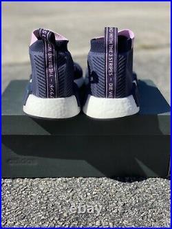 ADIDAS NMD CS1 Primeknit Sneakers Navy B37657 Womens Size 9.5 Mens 8.5