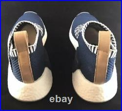 Adidas Boost NMD CS2 PK Size 8.5 Navy White Tan Leather Pull Tab