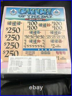All Instant Profit $828 Pull Tabs Ticket 5 Window Catch Of The Day Criss Cross
