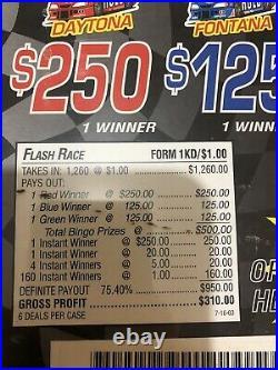 All Instants Profit Of $310 Pull Tabs Tickets $1.00 Windows flash race