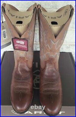 Ariat Mens Heritage Stockman Western Work Boots Size 9.5 EE 10002252 $179 Brown