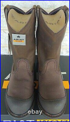 Ariat Mens OverDrive XTR H2O Composite Toe Work Boots Size 11 EE Brown 10012942