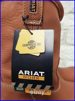 Ariat Mens Rebar Wedge Composite Toe Pull On Work Boots Size 9 EE 10023099 $175