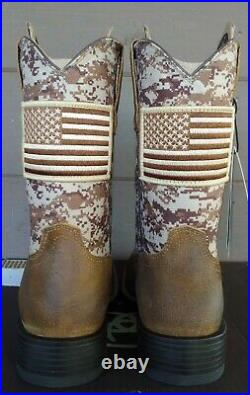 Ariat Mens Sport Patriot Western Boots Size 8.5 Antique Mocha Suede 10019959