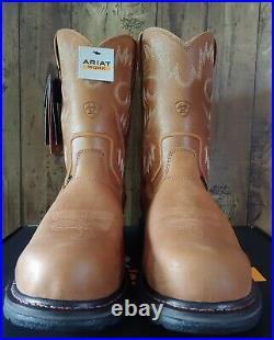 Ariat Mens WorkHog RT Composite Toe H2O Work Boots Sz 11 EE Rugged Bark 10004889