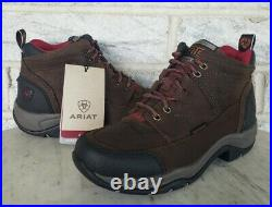 Ariat Womens Terrain Waterproof H2O Hiking Boots Size 7 B Med Brown 10021493