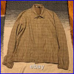 Auralee Hard Twist Wool Double Face Check Blouson Jacket 5/XL NWT RRP $725