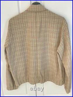Auralee Hard Twist Wool Double Face Check Blouson New Size 3 (small)