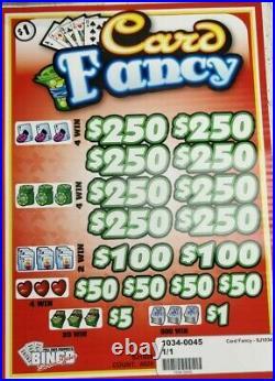 Big $1020 Profit Card Fancy $1 Pull Tab Tickets, 4020 Count