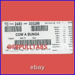 Big Cow A Bunga 1935 Pull Tabs/$1 Each $415 Profit Fundraiser Free Ship