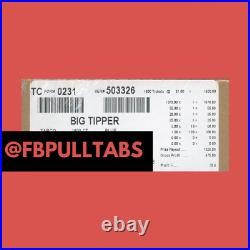 Big Tipper 1800 Pull Tabs At One Dollar Each 475 Profit Fundraising