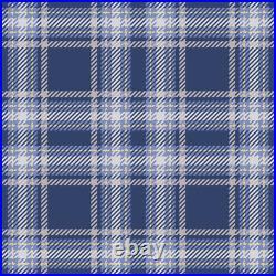 Blue Purple Plaid Tartan Pattern Printed Photo Roller Window Blind Blackout
