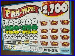 Board Game Fan-Tastic 1 Window Pull Tab 3840 Tickets Free Ship USA (48)