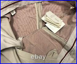 Brunello Cucinelli Men's Pants Size 36 / 52 Tan 100% Cotton With Pull Tabs