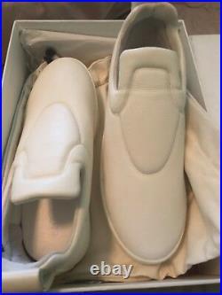 CELINE PHILO Runway Optic White leather padded pull on low skate sneaker Eu 41