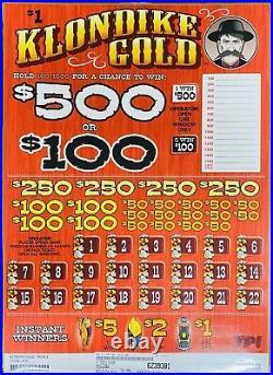 Cash Board Pull Tab 4000 Tickets 1095 Profit Free Shipping