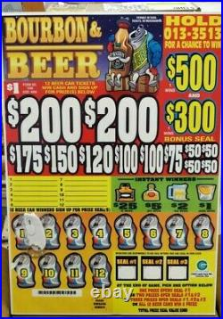 Cash Board, Pull Tab Tickets, 4000 Count @ $1 & $1000 Profit! Free Shipping