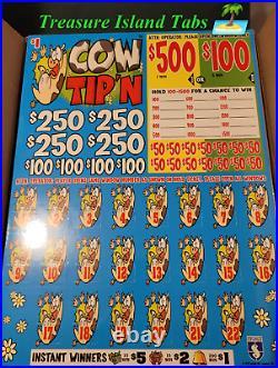Cow Tipn Cash Board 4000 Pull Tabs $1 $1,095 Profit