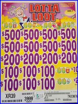 Craft games Lotta loot fundraiser pull tabs