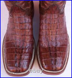 Custom Hand Made, Horn Back Caiman Tail Cowboy Boots, Size (9.5 D)