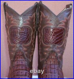 Custom Made, Horn Back Caiman Cowboy Boots, Size (10.5 D)