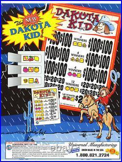 Dakota Kid 3 Window Pull Tab 2880 Tickets Profit $604 Free Ship USA 48