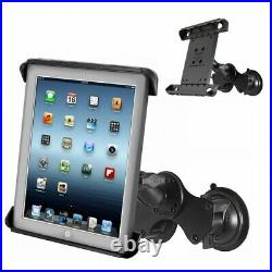 Double Twist Lock Suction Cup Mount with Tab-Tite Holder for 10 Tablets