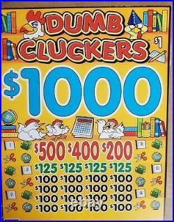 Dumb Cluckers Mini Games Pull Tabs 24 Bags With 252 Tickets. Profit $1704.00