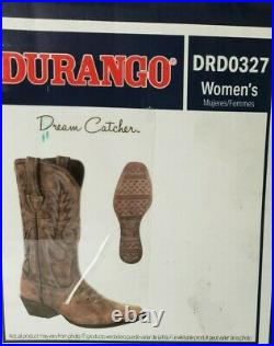 Durango Womens Dream Catcher Distressed Brown Western Boots Size 10 DRD0327 $172