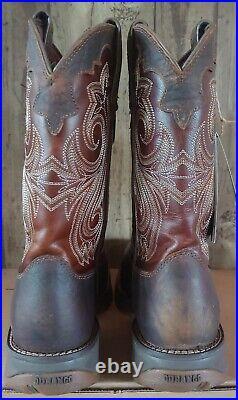 Durango Womens Lady Rebel Steel Toe Western Work Boots Size 10 Brown RD3315 $151