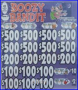 EXPIRED/ COLLECTIBLE ON HAND! Boozy Bandit 2 Pull-tabs 1818