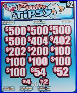 Feelin Tipsy' Pull Tab Tickets $1494 Profit 2952 Tickets Free Ship