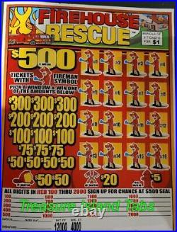 Firehouse Rescue Jar Tabs 12,000 Jar Pull Tabs $1 $815 Profit