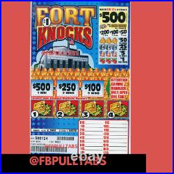 Fort Knocks One Dollar Pull Tab Game Instant/holds 2500 Pull Tabs 625 Profit