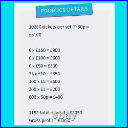 Fundraising £1 Tickets Pull Tab Tickets Charity Events Money Makers BD