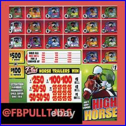 Get Off Your High Horse 2250 Pull Tabs, $1 Each $580 Profit Fundraiser