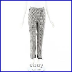Golden Goose Deluxe Brand Pants Minori Blue White Checked High Waist SZ M