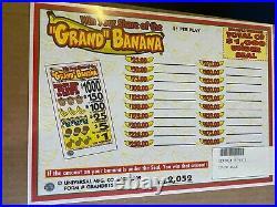 Grand Banana 5 Window Pull Tab 2052 Tickets Profit $497 Free Ship USA