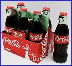 HTF Test Market PULL TOP 6 pack Coca Cola bottles w carrier/carton Pop Cap Tab