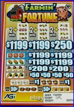 HUGE $3680 PROFIT FREE 3-DAY SHIPPING, PULL TAB TICKETS @. 50c FARMIN' FORTUNE