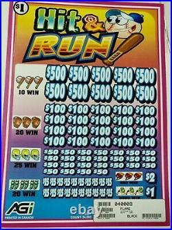 Hit & Run Express 2-day Shipping Pull Tab Tickets $8430 Profit